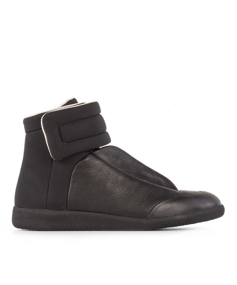Maison Margiela Men's  Black Leather Hi Top Sneakers