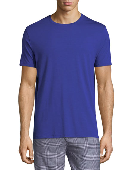 Derek Rose Basel Stretch-micro Modal Jersey T-shirt In Blue