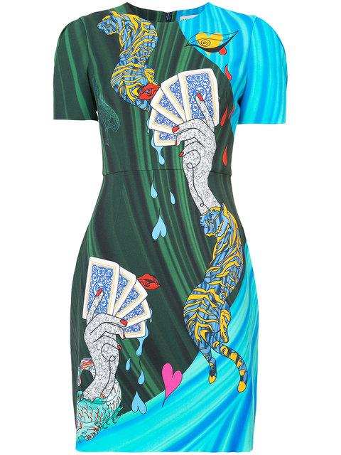Mary Katrantzou Card Print T-shirt Dress