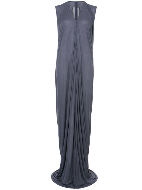 Rick Owens Draped Front Slit Gown