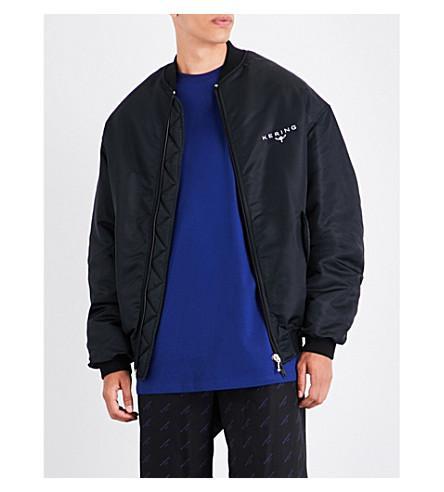 balenciaga kering shell bomber jacket in noir modesens kering shell bomber jacket