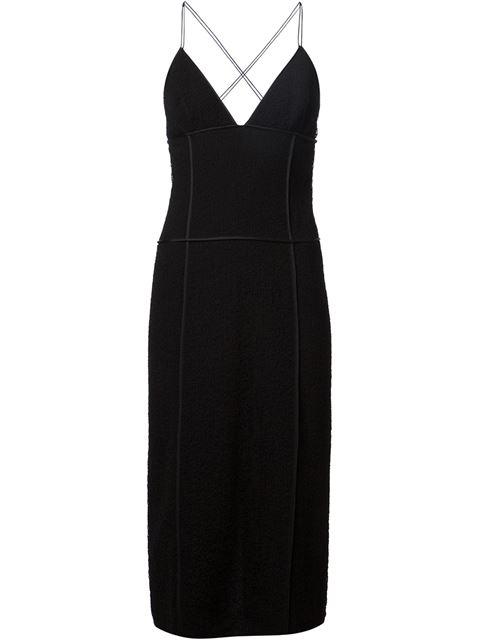 Jason Wu Corded Lace Slip Dress In Black