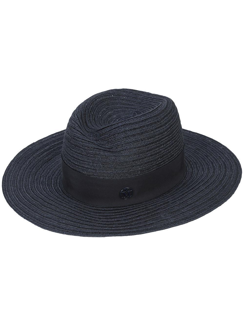 Maison Michel Blue Virginie Panama Hat