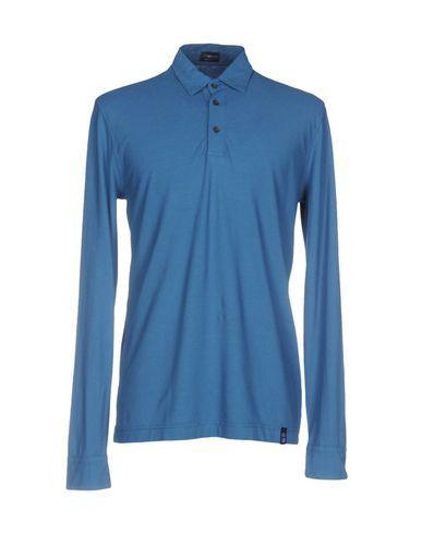 Drumohr Polo Shirts In Pastel Blue