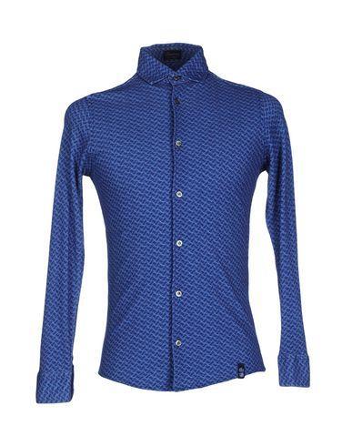 Drumohr Patterned Shirt In Dark Blue