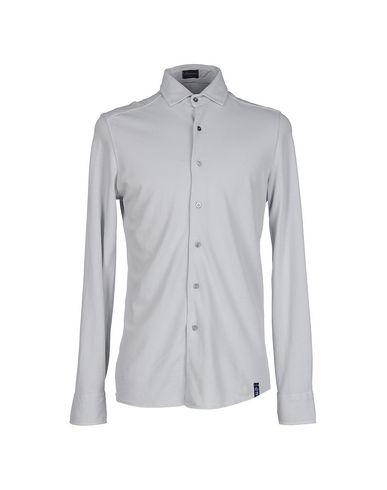 Drumohr Solid Color Shirt In Light Grey