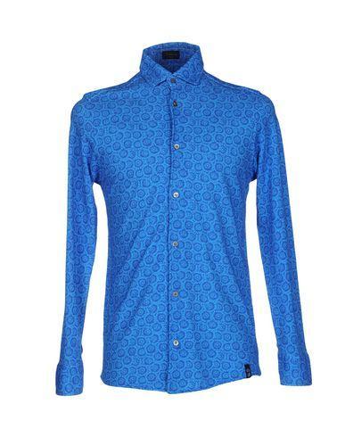 Drumohr Patterned Shirt In Blue