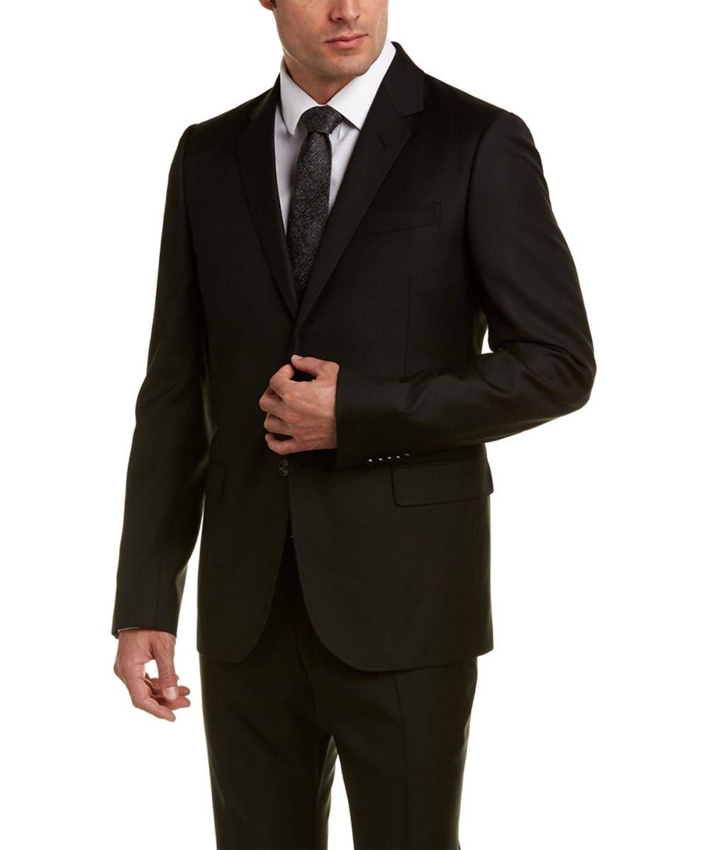 Gucci Monaco Wool-blend Suit With Flat Pant In Black