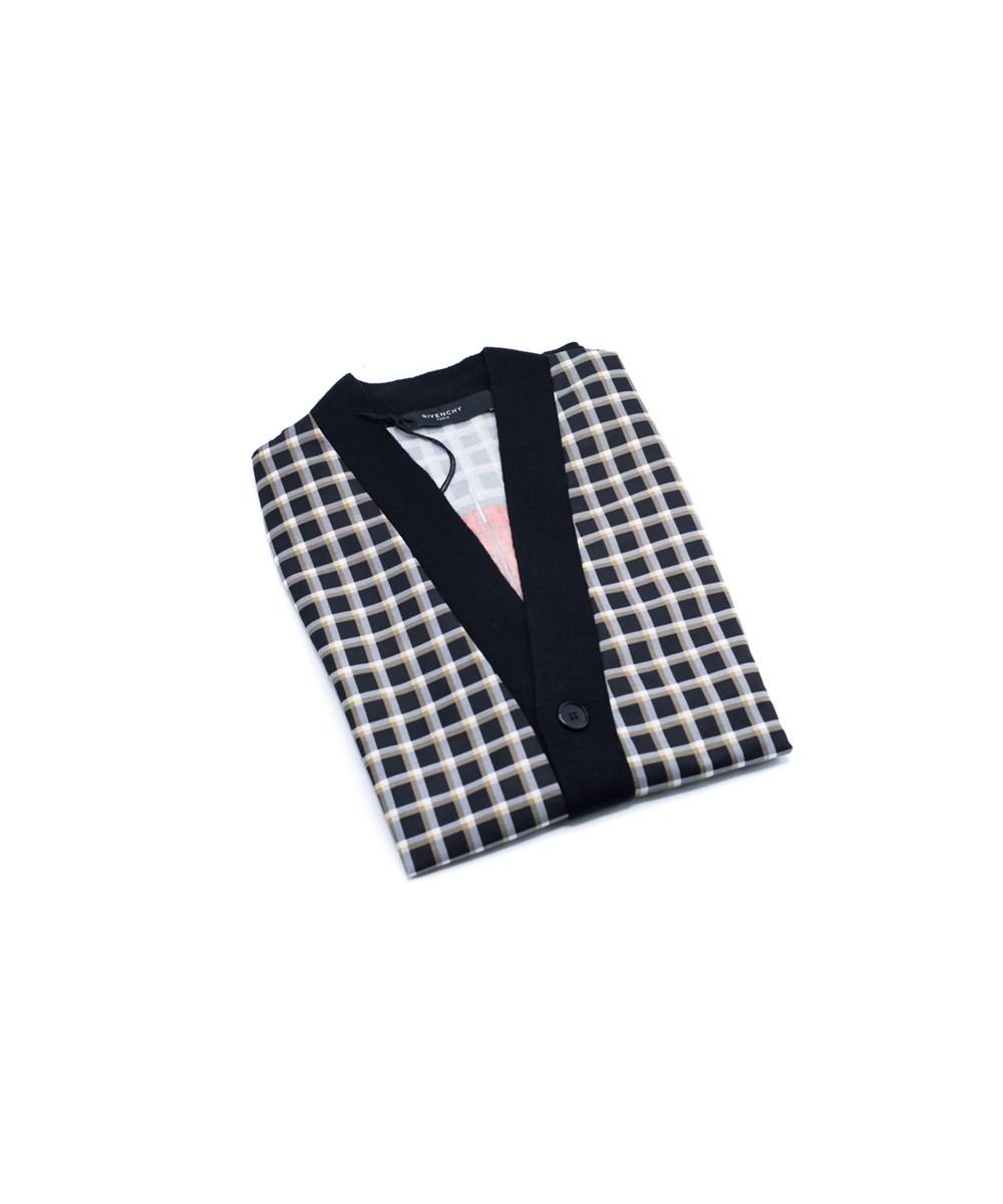 Givenchy Men's Black 100% Wool Printed Cardigan