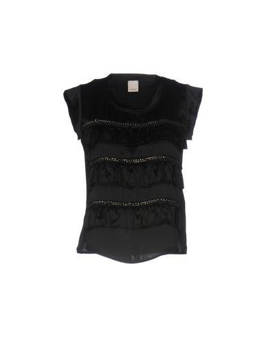 Pinko Silk Top In Black