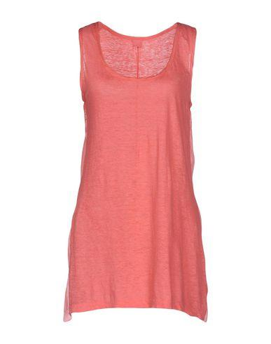 120% Lino Basic Top In Coral