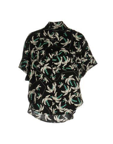 Julien David Patterned Shirts & Blouses In Black