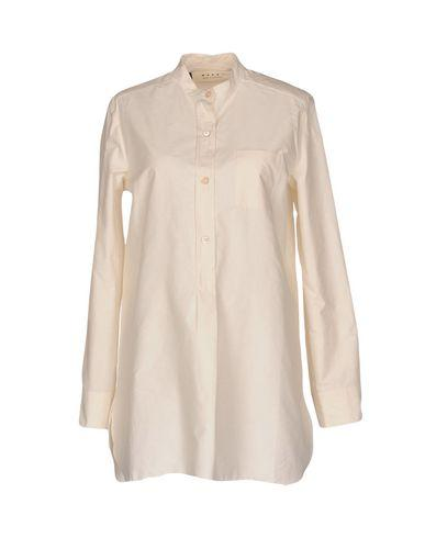 Marni Solid Color Shirts & Blouses In Ivory