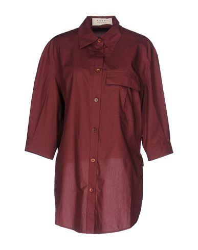 Marni Solid Color Shirts & Blouses In Maroon