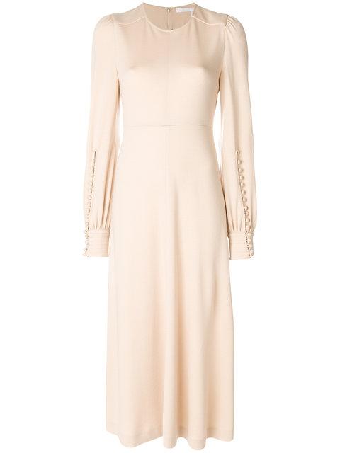 ChloÉ Long Sleeved Midi Dress