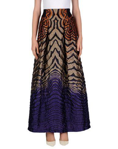 Alberta Ferretti Maxi Skirts In Dark Blue