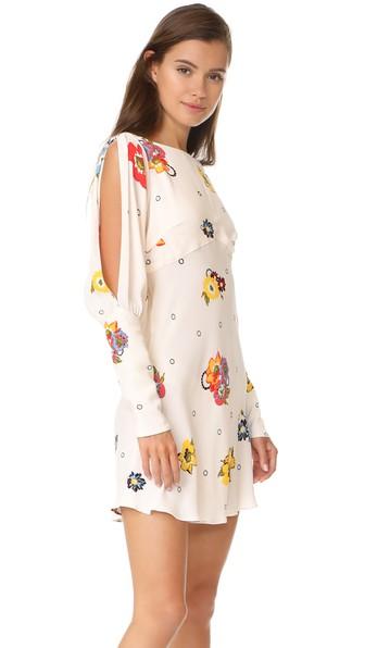Free People Sunshadow Mini Dress In Ivory Combo