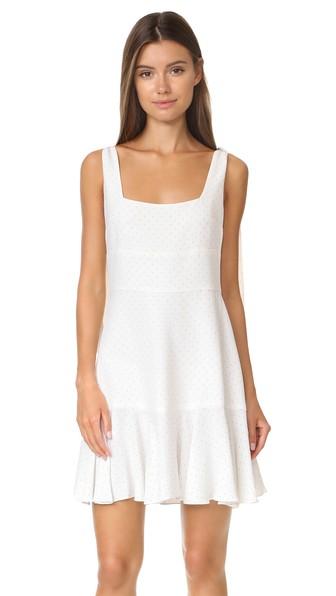 Alexis Jazz Polka Dot Dress In White Micro Dot