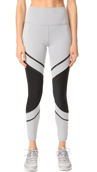 Beyond Yoga Limited Edition Collection Full Disclosure High Waisted Long Legging In Grey Pintuck