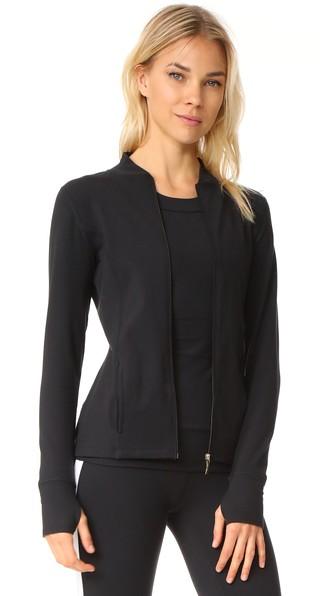 Beyond Yoga X Kate Spade New York Madison Bow Long-sleeve Jacket In Jet Black