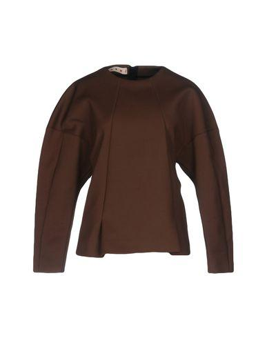 Marni Solid Color Shirts & Blouses In Cocoa