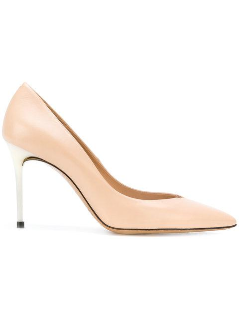 Maison Margiela Contrast Heel Stiletto Pumps - Nude & Neutrals