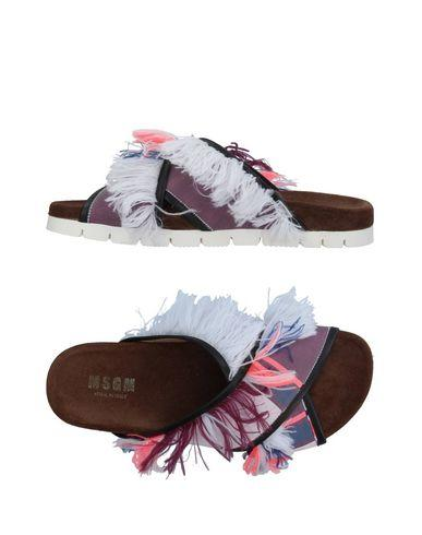Msgm Sandals In Purple