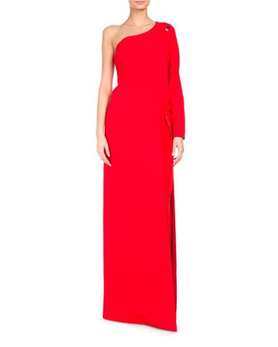 Givenchy One-shoulder Cady Floor-length Top In Red