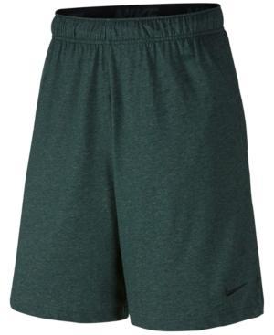 "Nike Men's 9"" Dri-fit Cotton Jersey Training Shorts In Outdoor Green"