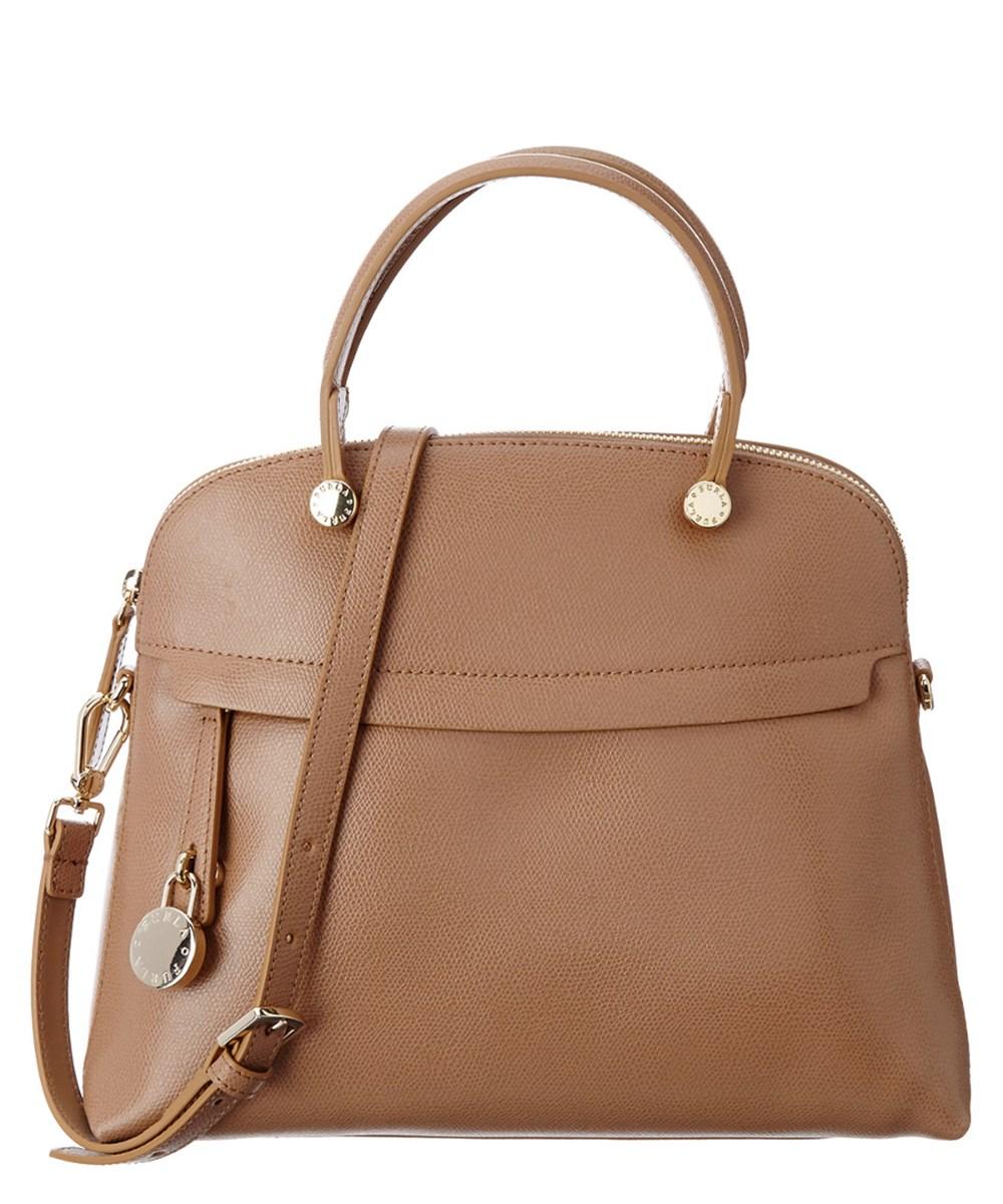 76a0ea8014a0e Furla Piper Medium Leather Dome Bag In Cappuccino B