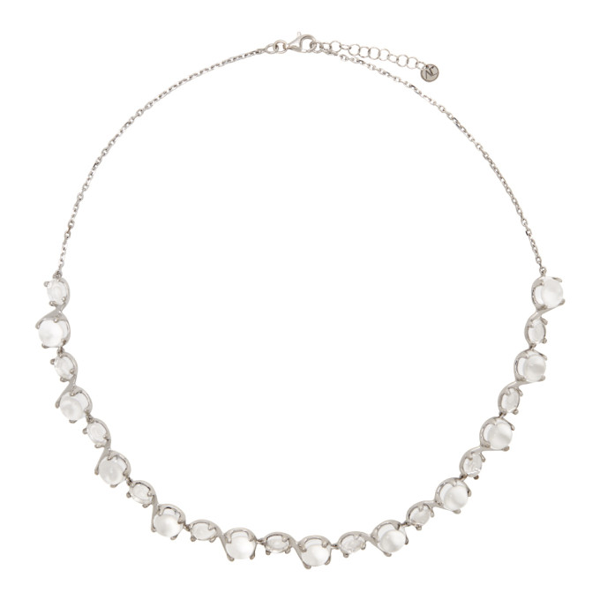 Alan Crocetti Dew Crystal & Sterling-silver Necklace In Rhodium