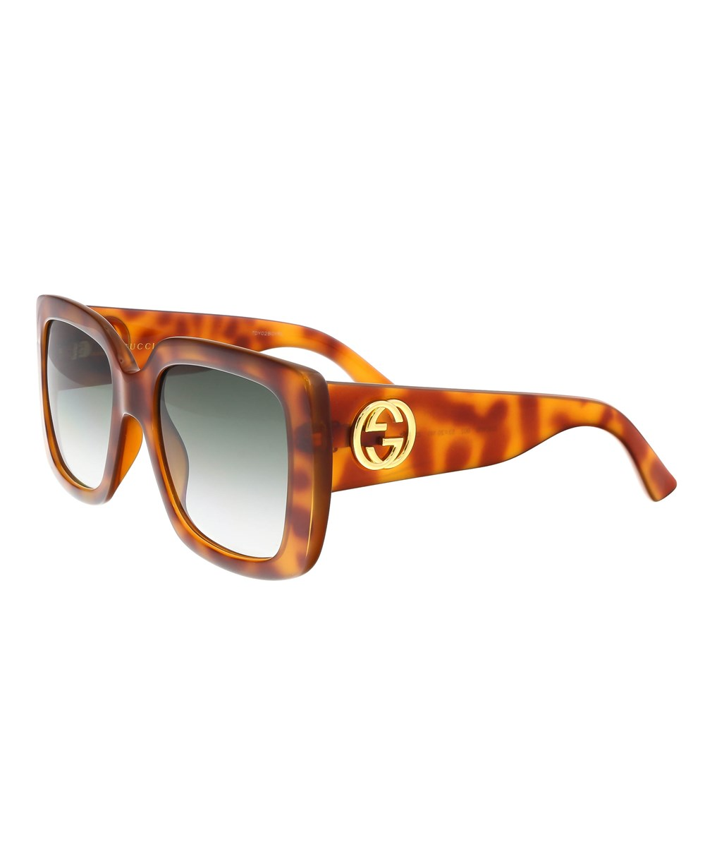 6d48710bbe5 Gucci 54Mm Gradient Square Sunglasses - Havana  Brown