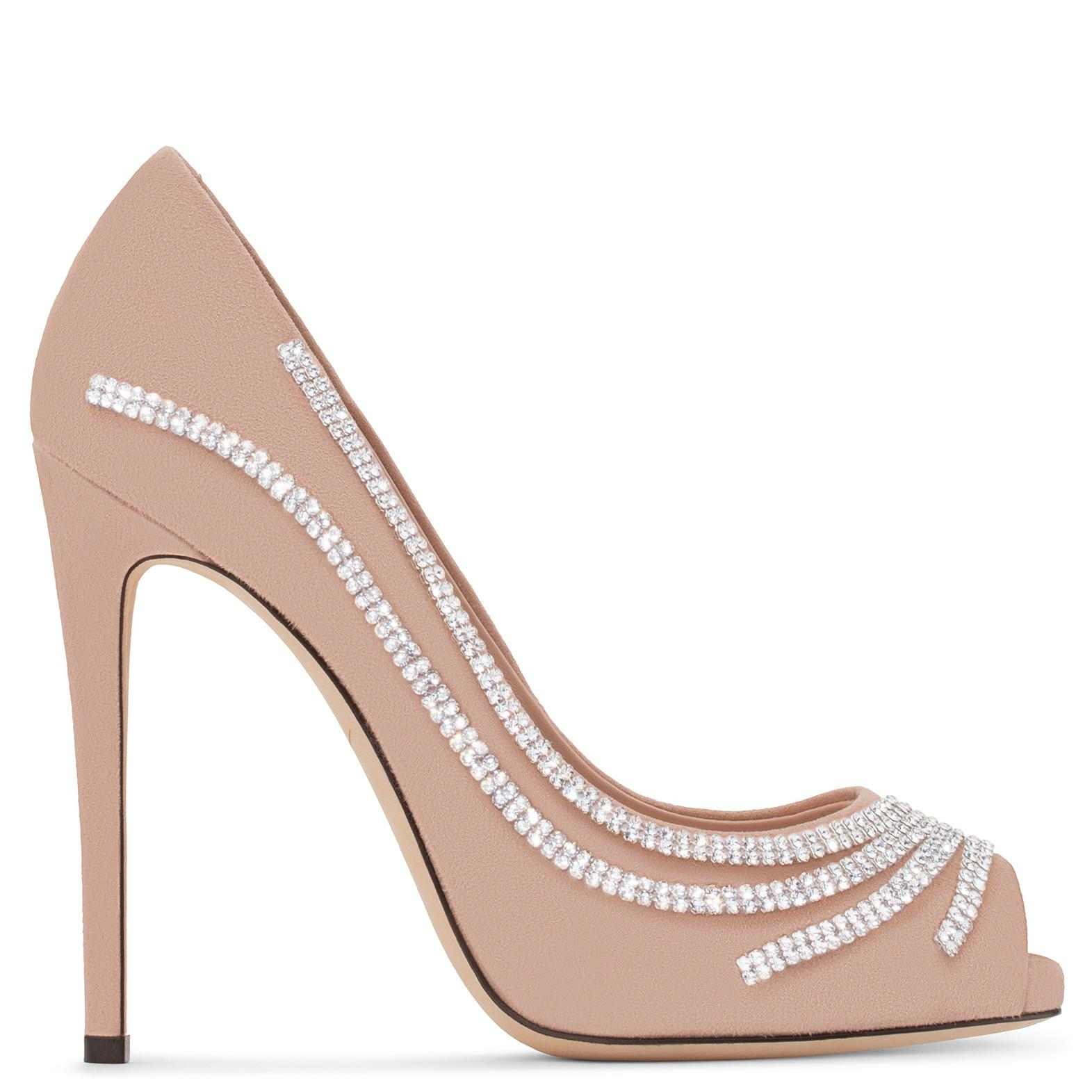 Giuseppe Zanotti - Pink Suede Pump With Crystals Clio