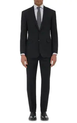 Ralph Lauren Anthony Wool Two-Button Suit - Black