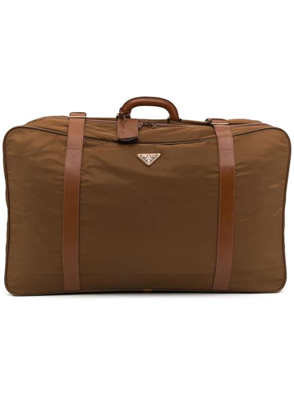 Prada Triangle-logo Suitcase In Bianco+nube