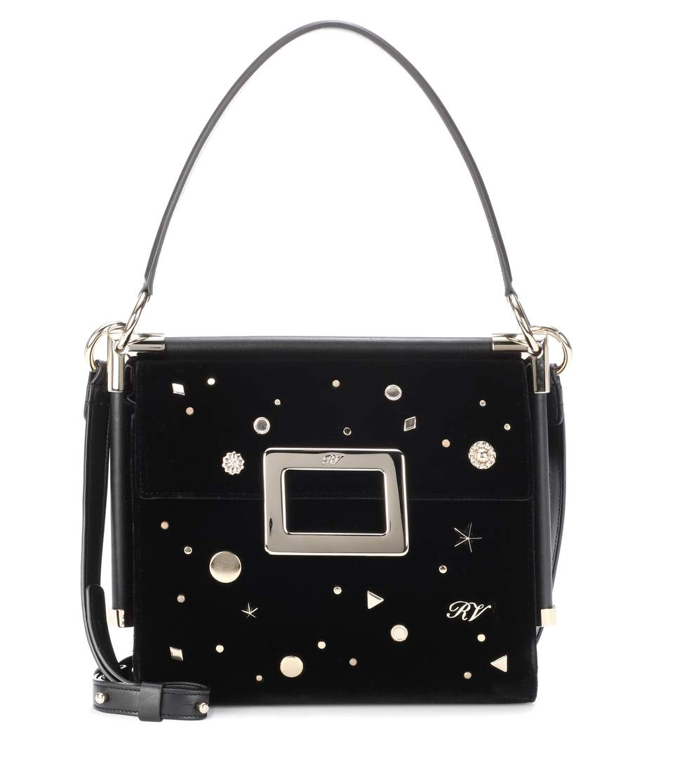 322c5775658f Roger Vivier Miss Viv. ROGER VIVIER. Miss Viv  Carré Small Shoulder Bag in  Black