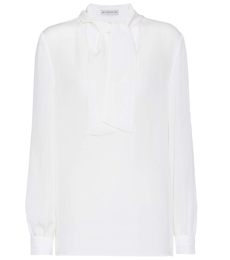 Etro Silk Blouse In White