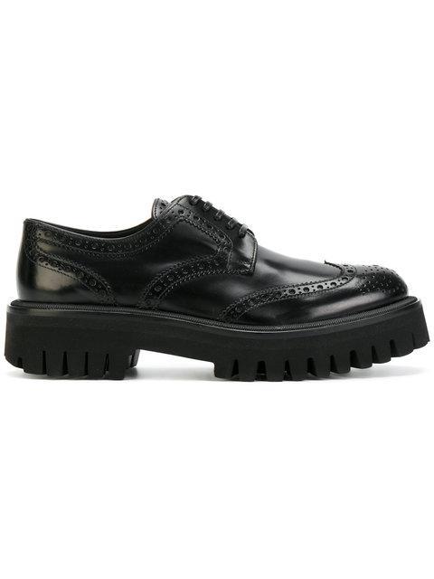 Dolce & Gabbana Ridged Sole Brogues In Black