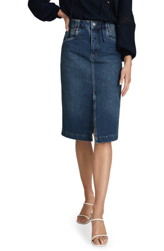 Reiss Myla Denim Pencil Skirt