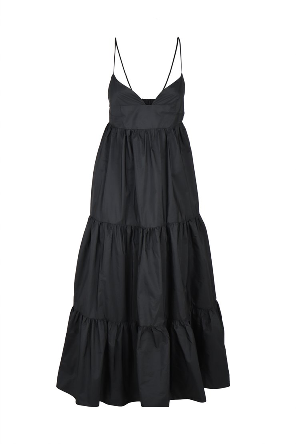Les Copains Flounced Dress In Black