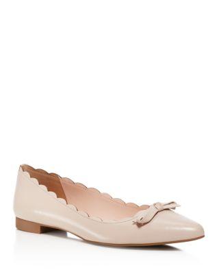 Kate Spade 'eleni' Pointy Toe Ballet Flat (women) In Pale Pink