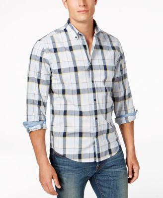 Tommy Hilfiger Men's Classic-Fit Anders Plaid Shirt In Cashmere Blue Heather