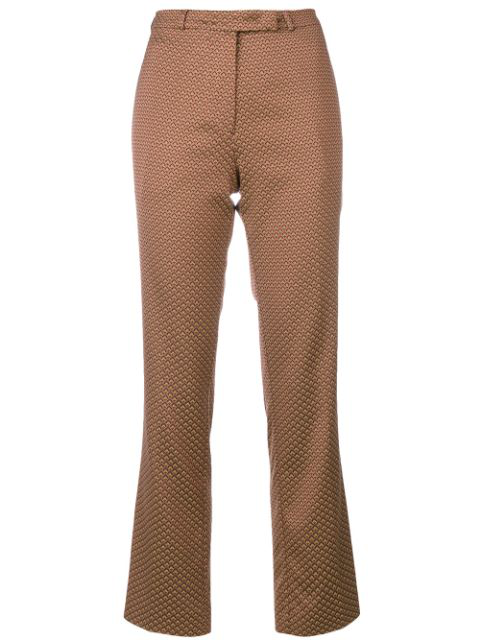 Etro Violante Floral-jacquard Cropped Trousers In 651