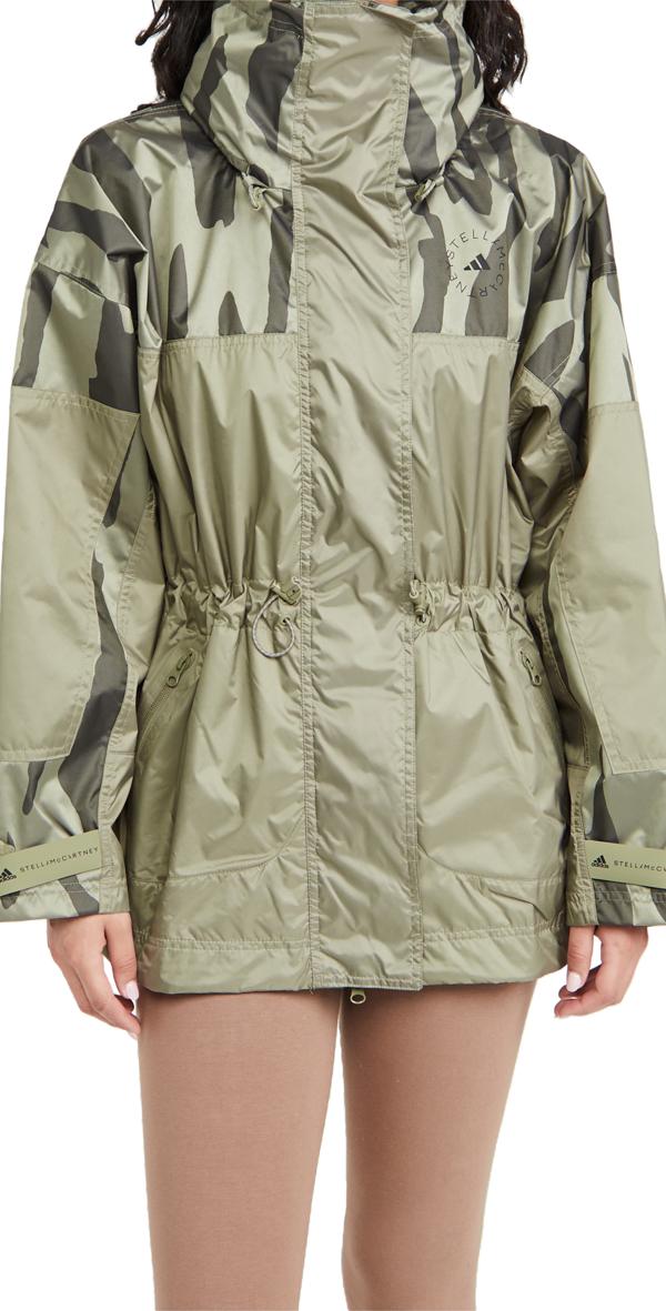 Adidas By Stella Mccartney Truepace Jacquard Jacket In Green