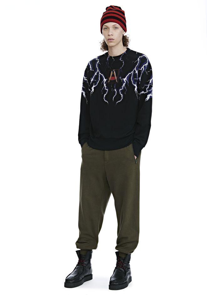 d6363430e295 Alexander Wang Graphic Patch Lightning Print Sweatshirt In Black ...
