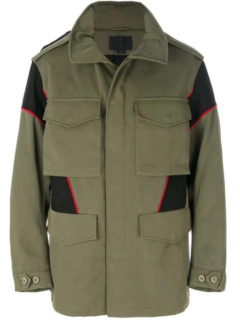 Alexander Wang Hybrid Field Cotton Green Jacket