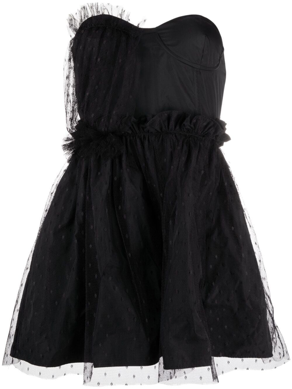 Red Valentino Cocktail Dress With Tulle In Black