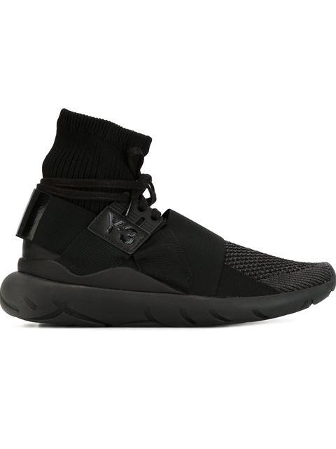 Y-3 Black Qasa Elle High-top Sneakers