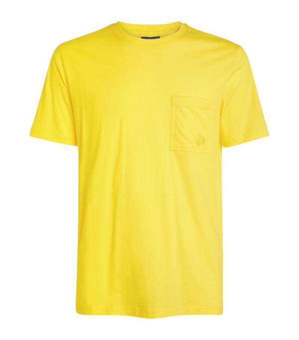 Vilebrequin Mens Citron Pocket-detail Organic-cotton T-shirt L