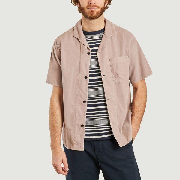 Albam Plain Shirt Faded Mauve  In Brown